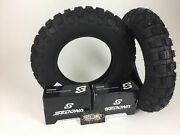 New Pair 2 Massfx Tires And Free Tubes 3.50-8 Sr 421 Front And Rear Honda Z50r Trail