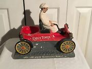 Vintage Early Times Straight Kentucky Bourbon Whiskey Chalkware Car