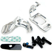 Hope Tech Brake Shifter Clamp Mount For Shimano Slx 2013 Pair - Silver - New