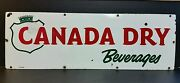 Canada Dry Soda Pop Porcelain 1-sided Advertising Sign 30