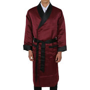Satin Robe Andndashmens -long Fully Lined Andndash - Heavy Weight