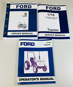 Ford 1715 Tractor Service Repair Manual Set Owners Operators Shop Technical
