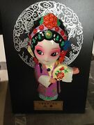 Xiao Qiao Chinese Opera Mask Clay Figure Home Decoration Collectible Gift, Stand