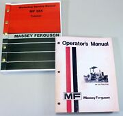 Set Massey Ferguson 285 Tractor Service Repair Owners Operators Manuals