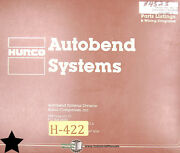 Hurco 5c Press Brake Gauging Systems Parts Wiring And Schematics Manual