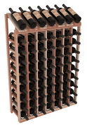 70 Bottle Display View Wine Rack Kit In Premium Redwood. Hand Crafted In Usa.