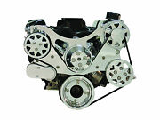 Billet Serpentine Kit - Small Block Ford - Polished - No A/c And No Ps