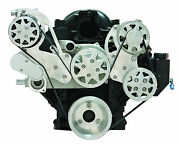 Billet Serpentine Front Drive System - Ls - Machined - W/ac And Ps - Edelbrock Wp
