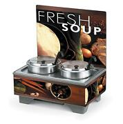 Vollrath 720202102 Countertop Soup Merch With 7 Qt Accessory Pack Menu Board