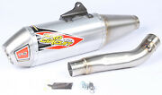 Pro Circuit 0141625a T-6 Stainless Slip-on Silencer W/removable Spark Arrestor