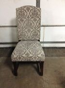 Frontgate Valetta Office Dining Side Game Upholstered Accent Chair Nailheads
