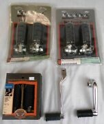 Lot Harley-davidson Touring Motorcycle Parts Oem And 3rd Party Footpegs And Pedals