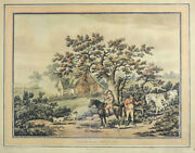 Thomas Rowlandson 1756-1827 Colored Etching And Aquatint Partridge Shooting