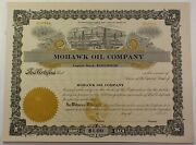 Mohawk Oil Company Winchester Kentucky Stock Certificate Serial Number 82
