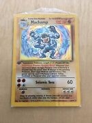 Pokemon Card Rare First Edition Machamp 8/102 Holo Never Opened Brand New