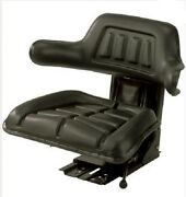 New Replacement Universal Tractor Seat-black W/ Shock Absorbing Cylinder System