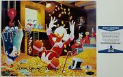 Alan Young Signed 8x10 Photo 6 Voice Of Scrooge Mcduck Auto W/ Beckett Bas Coa