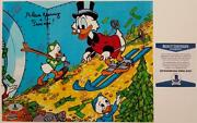 Alan Young Signed 8x10 Photo 7 Voice Of Scrooge Mcduck Auto W/ Beckett Bas Coa