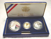 1993 Bill Of Rights 3 Coin Proof Set W/ Gold And Silver By Us Mint In Box Coaandnbsp