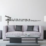 Birds On Telephone Wire Vinyl Wall Decal - Fits Nursery, Family Room + More K661