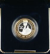 2000 Library Of Congress Commem Proof 10 Gold And Platinum Bimetallic Coin In Ogp