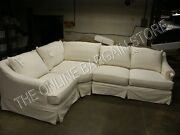Pottery Barn 3 Pc Belgian Right Loveseat Wedge Left Chair Sectional No Slipcover