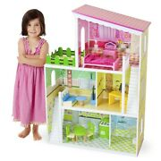 3.5' Tall Wooden Wonders Living Large Modern Doll House Detailed Toy Furniture