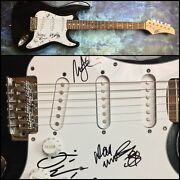 Gfa Dave Mustaine Ellefson And Marty Megadeth Signed Electric Guitar Ad2 Coa
