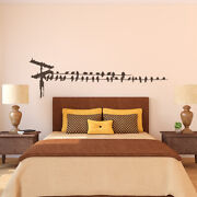 Birds On Telephone Wire Vinyl Wall Decal - Fits Kitchen, Bedroom + More K661