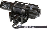Utv Winch Kfi Stealth 4500 Lb. Se45 Hand Remote Synthetic Cable Hook Stopper