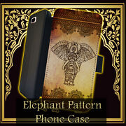 Elephant Pattern Floral India Leather Wallet Iphone 7 6 6s 5 5s 4 4s 6 Plus Case