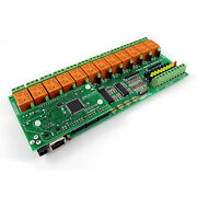 Internet/ethernet 12 Relay Channel Board - Snmp Web Xml Adc Counters Timers