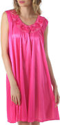 Venice Luxuriously Soft And Sexy Silky Looking Nightgown With Roses Style F33