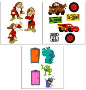 Closeout Disney Buttons Grumpy Cars Monsters Snow White Card Making Mater