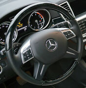 Mercedes-benz Oem W166 G Ml W463 Leather And Piano Black Designo Steering Wheel