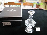 Beautiful Round Waterford Footed Perfume Bottle 6 1/4h, With Box