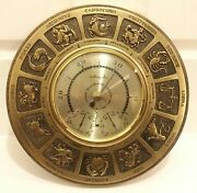 Rare Vintage.- Airguide Barometer Thermometer Humidity Horoscope Zodiac Face 14