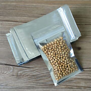 Clear Silver Aluminium Foil Pouches Mylar Self Seal Bags Food Packaging