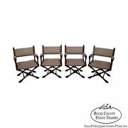 Quality Set Of 4 X Base Directors Arm Chairs