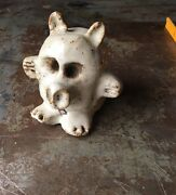 Vintage SIGNED studio Pottery 1970s MONSTER object SCULPTURE paperweight FUN FUN