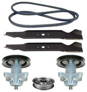 Huskee Lt3800 38 Lawn Mower Deck Parts Kit Spindles Blades Belt Free Shipping