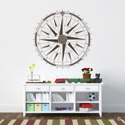 360 Celtic Compass Rose Vinyl Wall Or Ceiling Decal - Fits Playroom Kitchen K669