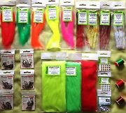 Bass, Pike Musky, Big Perch Fly Tying Kit Materials Hooks Flash Eyes And Threads