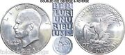 1971-s Eisenhower Silver Dollar Uncirculated Doubled Die Obverse And Reverse