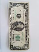 1950d 100 One Hundred Dollar Bill Great Condition.