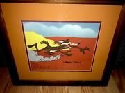 Warner Brothers Animation Cel Chuck Jones Signed Wile E Coyote Hot Pursuit Rare