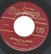 Coasters One Kiss Led To Another Rock N Roll 45 6073 Plays Strong Vg+
