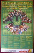 1983 Original Poster Spain Barcelona Music Competition Iberia Airlines