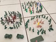 Little Army Soldiers Cowboys And Indians War Military Green Men Action Figure Lots