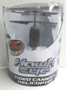Air Hogs Rc Hawk Eye Video Camera Helicopter Remote Control Black New Open Box